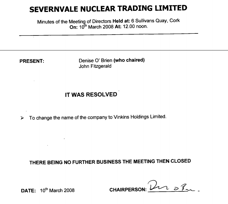 Stephan Roh had a very similarly named company, Severnvale Nuclear Services