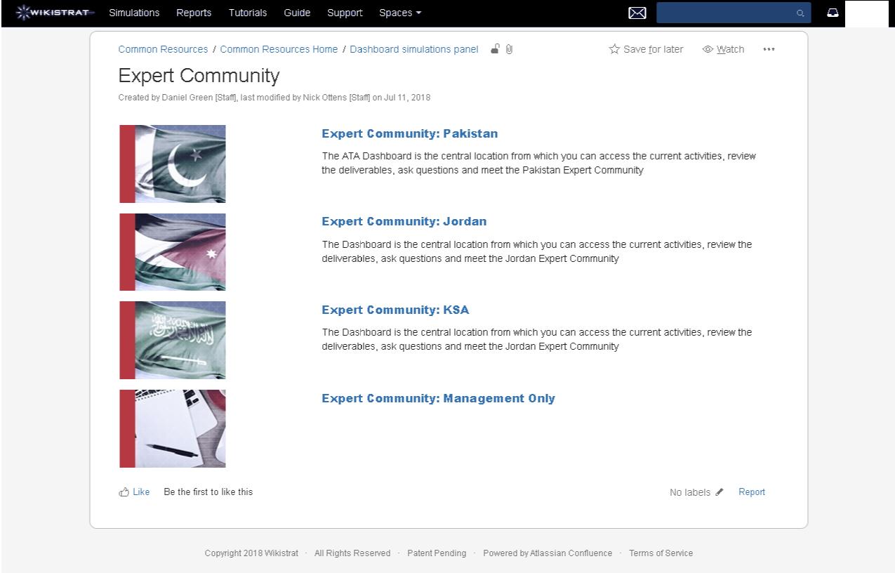 Wikistrat expert community